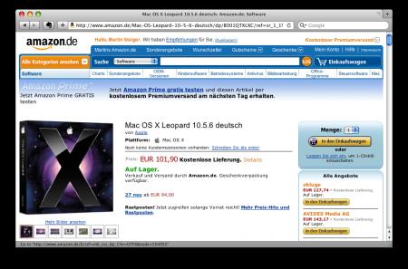 Amazon.de (Screenshot)