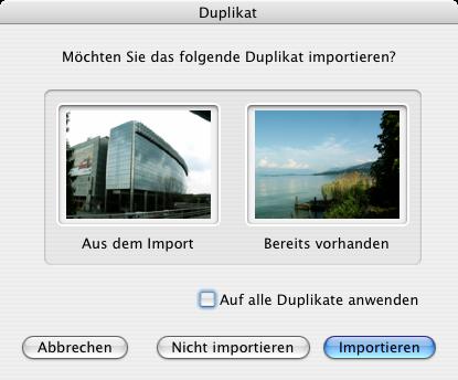 Duplikaterkennung von iPhoto