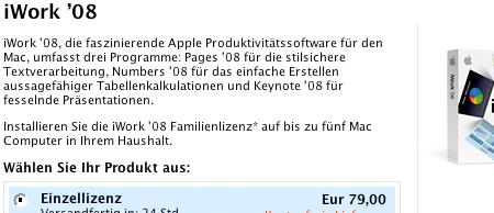 iWork '08 im Apple Store