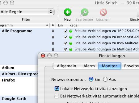 Little Snitch-Konfiguration