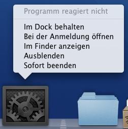 programm reagiert nicht