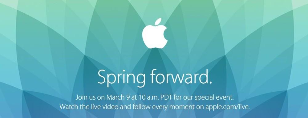"""Apple Event """"Spring Forward"""" am 09. März 2015 – Was kommt, außer die Apple Watch?"""